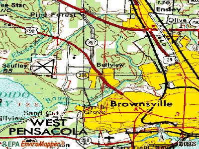 Bellview topographic map