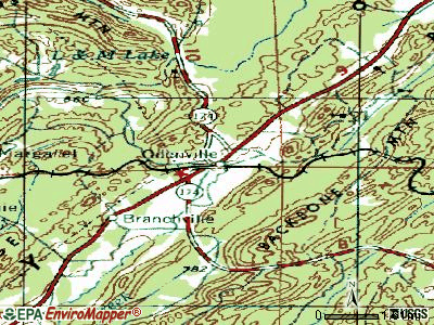 Odenville topographic map