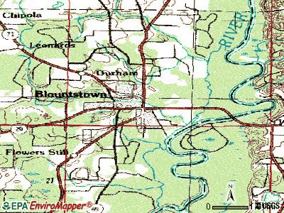 Blountstown topographic map