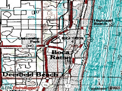 Boca Raton topographic map