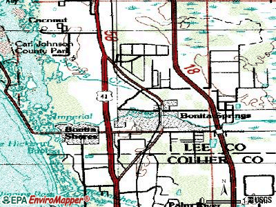 Bonita Springs topographic map