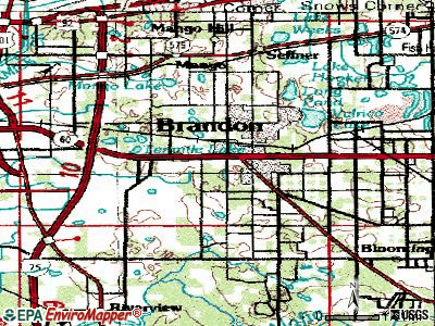 Brandon topographic map