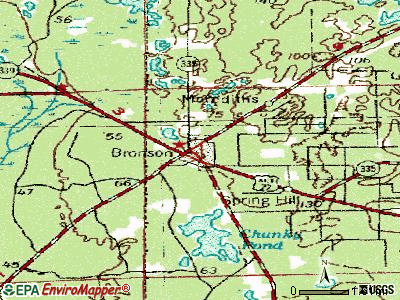 Bronson topographic map
