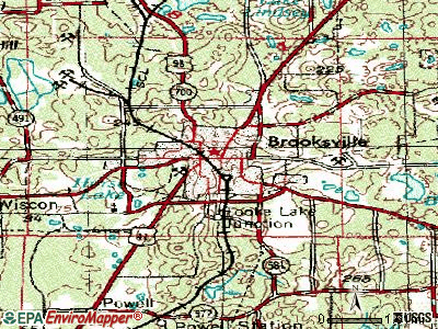 Brooksville topographic map