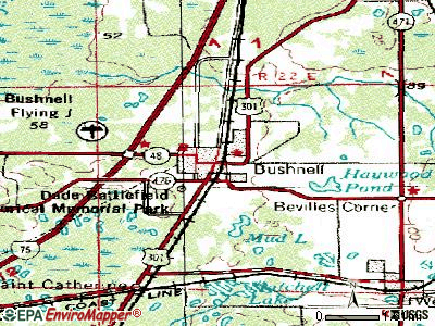 Bushnell topographic map