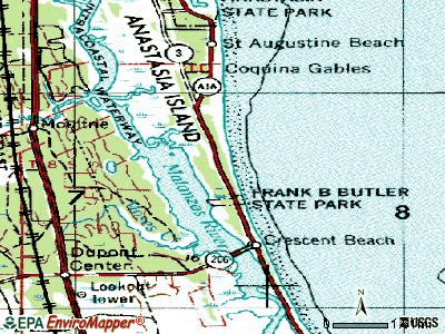 Butler Beach topographic map