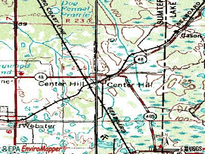 Center Hill topographic map