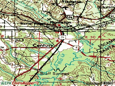 Century topographic map