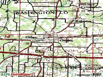 Chipley topographic map