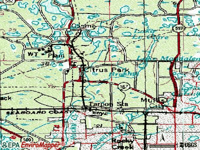 Citrus Park topographic map