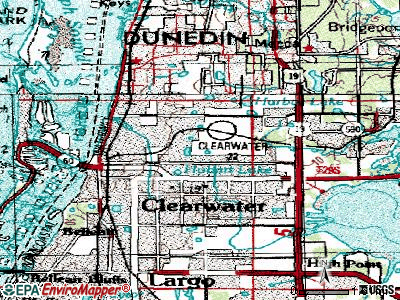 Clearwater topographic map