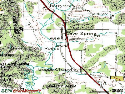 Owens Cross Roads topographic map
