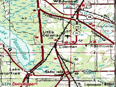 Coleman topographic map