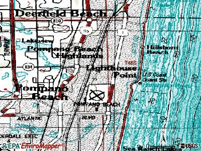 Collier Manor-Cresthaven topographic map