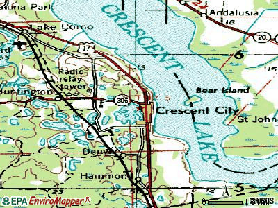 Crescent City topographic map