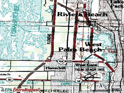 Cypress Lakes topographic map