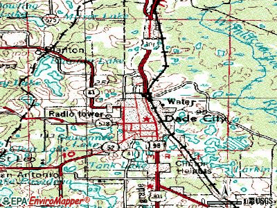 Dade City North topographic map