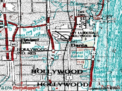 Dania Beach topographic map
