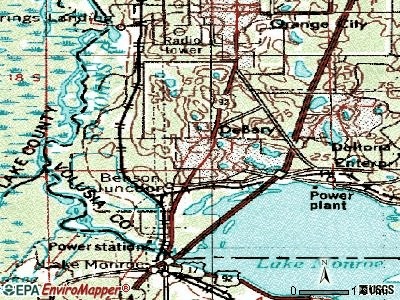 Davie topographic map