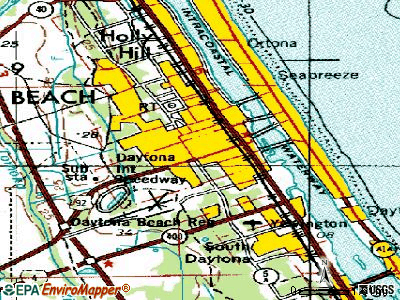 Daytona Beach topographic map