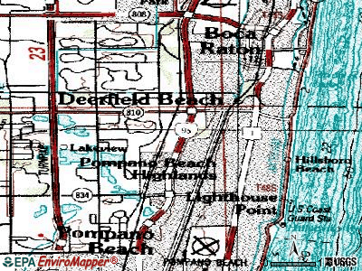Deerfield Beach topographic map