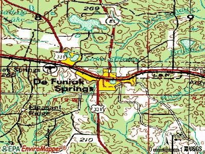 De Funiak Springs topographic map
