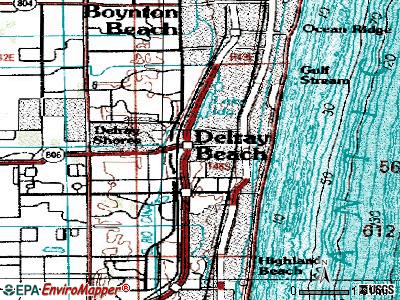 Delray Beach topographic map