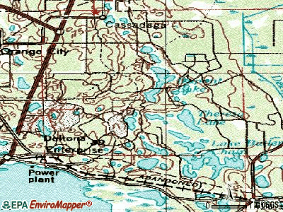 Deltona topographic map