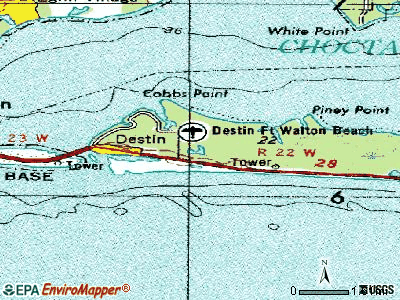 Destin topographic map