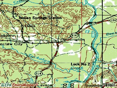 Pennington topographic map