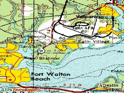 Eglin AFB topographic map