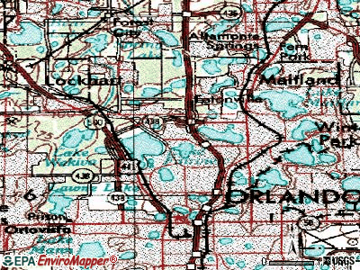 Fairview Shores topographic map