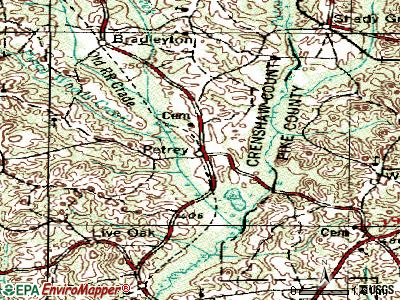 Phenix City topographic map