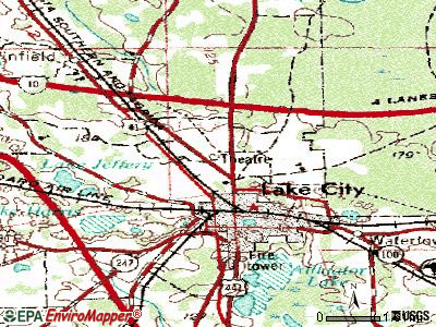 Fort Lauderdale topographic map