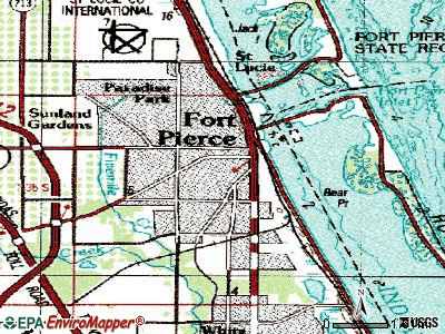 Fort Pierce topographic map