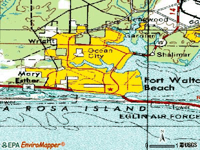 Fort Walton Beach topographic map