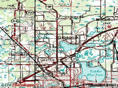 Gibsonia topographic map