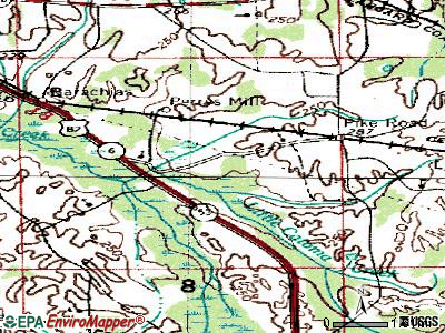 Pike Road topographic map