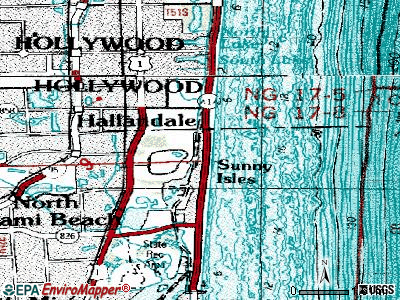 Golden Beach topographic map