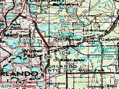 Goldenrod topographic map