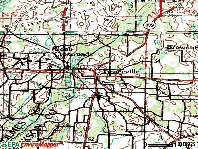 Graceville topographic map