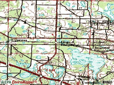 Grand Ridge topographic map