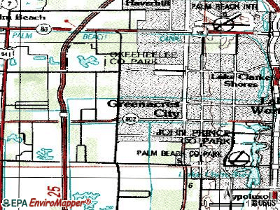 Greenacres topographic map