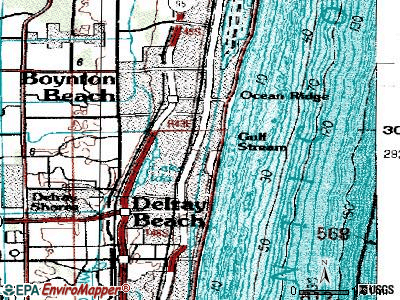 Gulf Stream topographic map