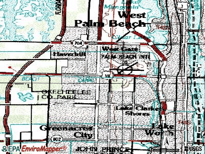 Gun Club Estates topographic map