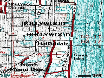 Hallandale topographic map