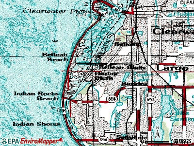 Harbour Heights topographic map