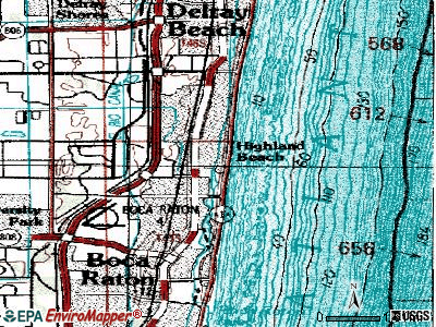 Highland Beach topographic map