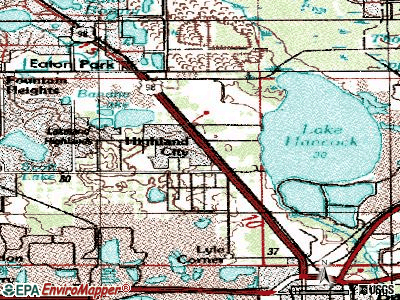 Highland City topographic map