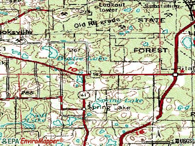 Hill 'n Dale topographic map